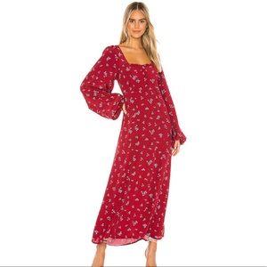 NWOT Free People Iris Floral Midi Dress - Size XS